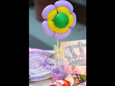 Flores con Globos - Centros de Mesa
