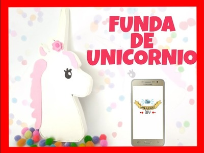 FUNDA UNICORNIO PARA TU TELÉFONO MOVIL.UNICORN CASE FOR YOUR MOBILE PHONE - TUS MANUALIDADES DIY