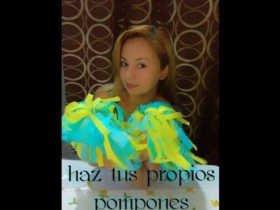 HAZ TUS PROPIOS PONPONES DE PORRISTA CON PAPEL DE SEDA. ! ????????