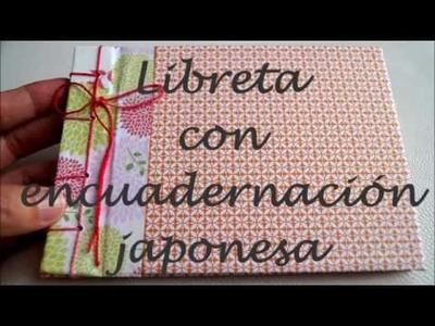 Libreta con encuadernación japonesa