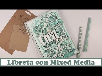 Libreta reciclada con Mixed Media, con Kora Projects