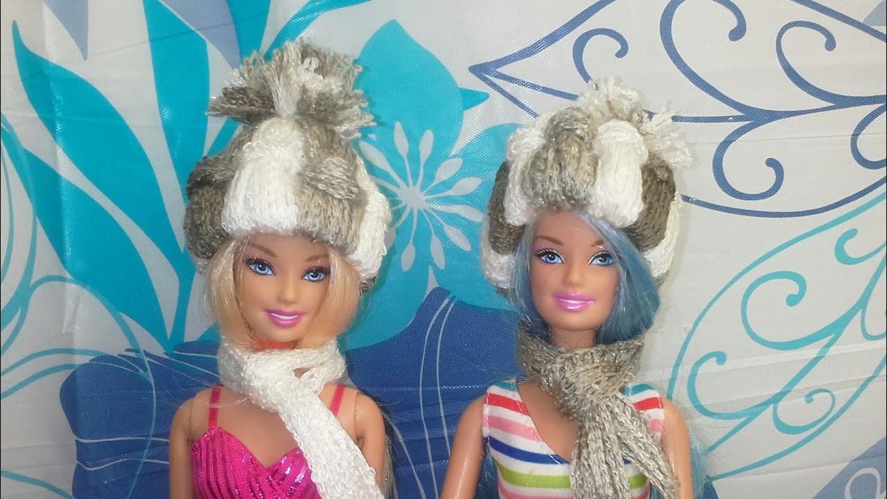 Manualidad: Mini gorritos de lana.hilo de chochet para muñecas y para el arbolito de navidad