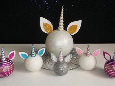 Maraton Navideño - Como hacer Unicornios con Esferas