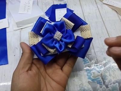 Moños para la escuela.How to make a bow. laço. bow brooch. cintillo. balaca. vincha