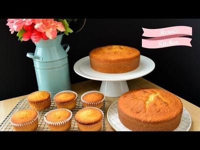 Pastel de Vainilla | Básicos de Repostría | Ale Hervi