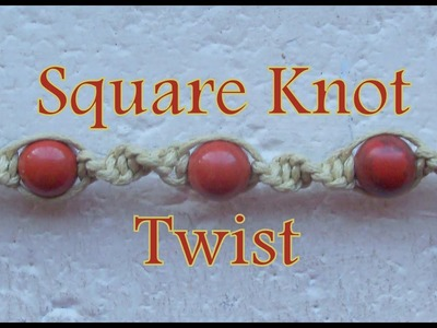 Pulsera de Hilo: Square Knot Twist es.PandaHall.com