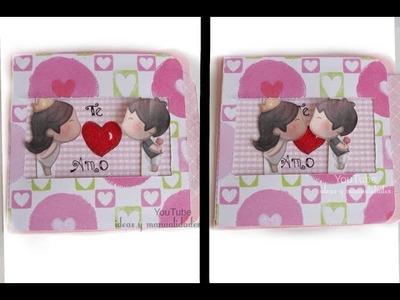 Tarjeta con beso para regalar este día de San Valentin
