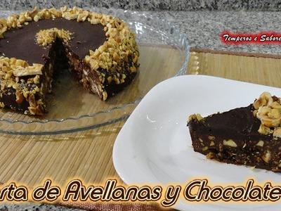 TARTA DE CHOCOLATE CON AVELLANAS ESTILO TURRÓN sin horno y muy fácil