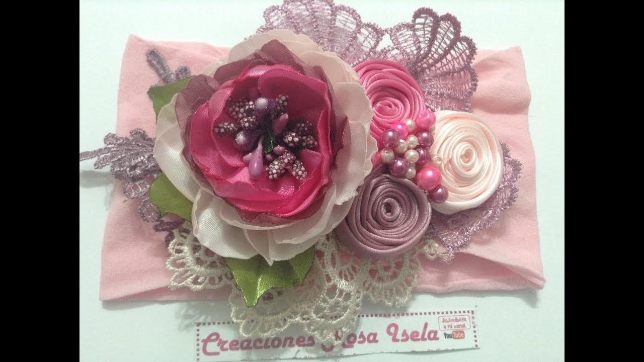 Tiara de hermosas flores VIDEO NO. 549 creacionesrosaisela