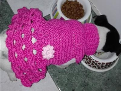 VESTIDO PARA PERRITA ???? de ganchillo. crochet