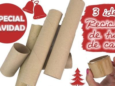 3 IDEAS PARA REUTILIZAR TUBOS DE CARTÓN - ???? ESPECIAL NAVIDAD ????