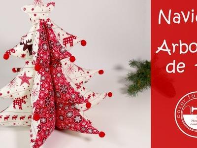 Adornos de Navidad: un árbol de tela (patrones gratis)
