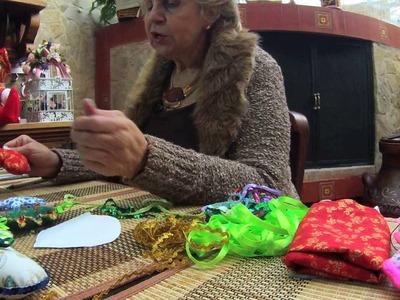 Aprenda con Doña Luz-Corona navideña
