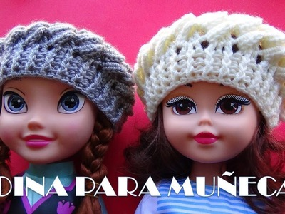 Boina a Crochet para Muñecas - REGALOS PARA NAVIDAD