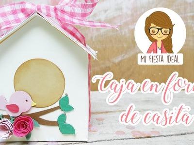 Caja casita. pajarera. bird house box. Mi fiesta ideal