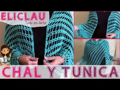 Chal y Túnica terminados | Finished shawl and tunic | EliClau