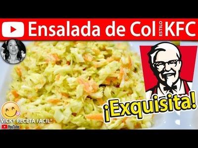 Cómo hacer ENSALADA DE COL Estilo KFC | Vicky Receta Facil