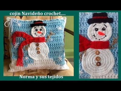 Cojín navideño a crochet