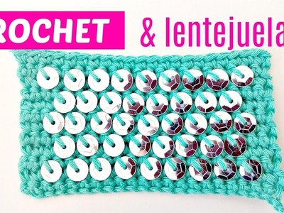 Cómo aplicar lentejuelas a crochet