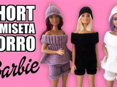 Cómo hacer SHORT, CAMISETA y GORRO para tu muñeca Barbie con un Guante. ¡Muy Fácil!