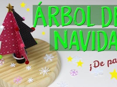¿Cómo hacer un arbol de navidad de papel? arbol navideño con papel muy facil