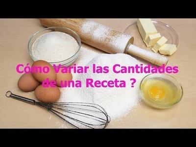 Cómo Variar las Cantidades de una RECETA para Tortas, Pasteles y Cupcakes - Club de Reposteria