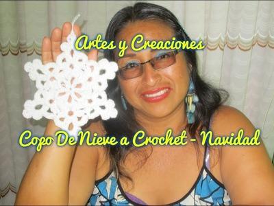 COPO DE NIEVE TEJIDO A CROCHET - NAVIDAD