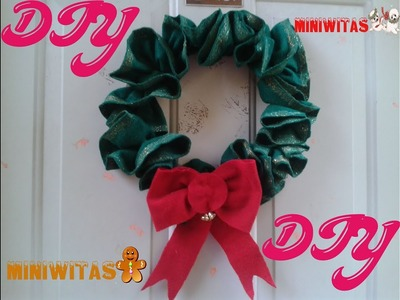 CORONA DE NAVIDAD ( DE ADVIENTO) HECHA DE FIELTRO.CHRISTMAS WREATH (ADVENT) MADE OF FELT