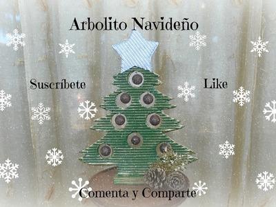 Decoraciones Navideñas. Arbolito de cartón. Serie navideña, tutorial dos.