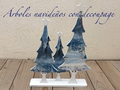 Decorar árboles navideños con decoupage