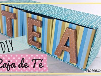 DIY Caja para las bolsas de Té   Ideas de Regalo