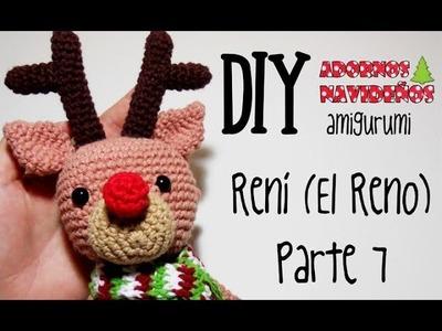 DIY Rení (El reno) Parte 7 amigurumi crochet.ganchillo (tutorial)