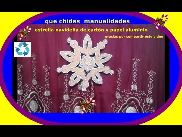Estrella navideña de cartón