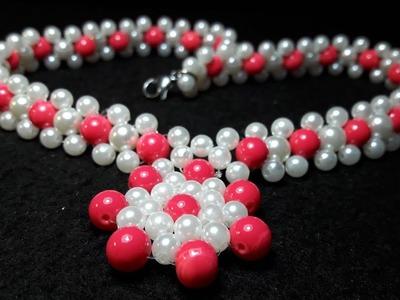 Fácil y Sencillo Collar de Perlas. Clase #71!!!