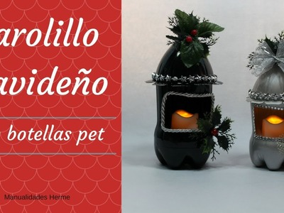 Farolillo Navideño con botellas pet