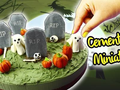 HAZ un CEMENTERIO Embrujado en MINIATURA!! Manualidades para Halloween