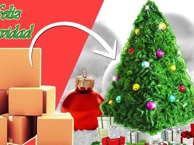 Ideas para Navidad ( Arbol de Navideño) (Reciclaje) Ecobrisa