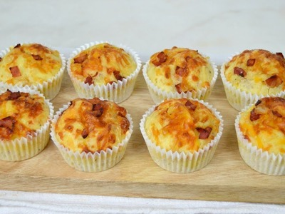 Muffins salados de bacon y queso. ¡Fáciles y deliciosos!
