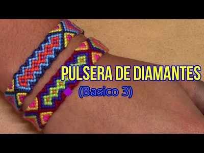 Pulsera de Hilo: Pulsera de Diamantes (Basico 3) Intermedio