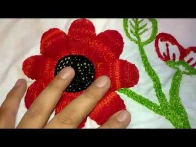 Puntada fantasia Flor rellena 2