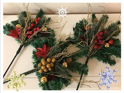 Rama de decoracion para el arbol de navidad.