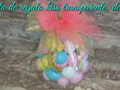 San Valentín caja de regalo en forma  Kiss by MDulceCreación