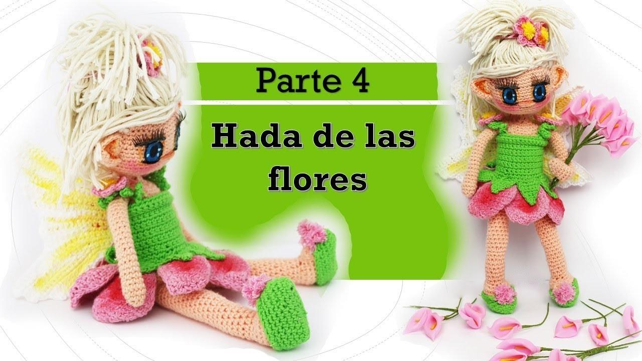 Amigurumi Hada de las flores paso a paso (4.5)