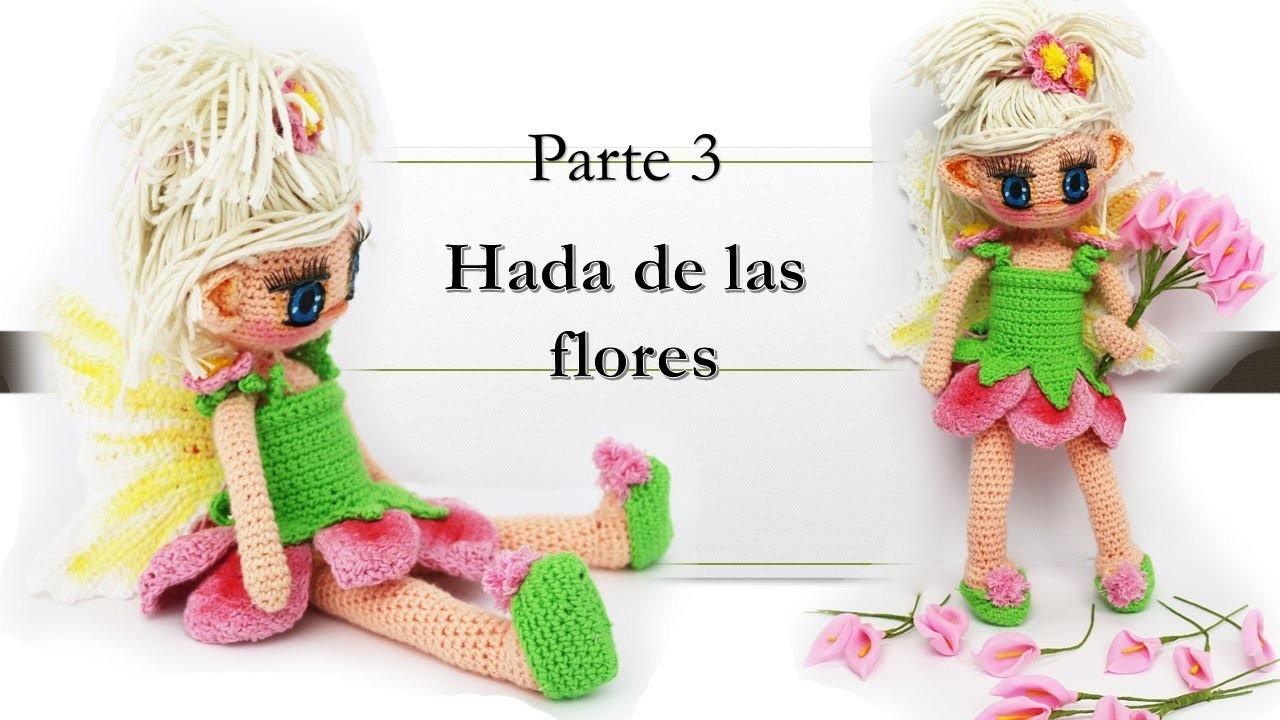 Amigurumi Hada de las flores paso a paso (3.5)