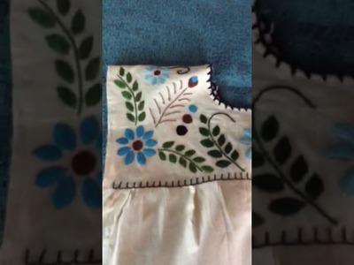 Blusa bordada terminada