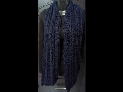 Bufanda Para Hombre (Crocheteano con la Comadre)