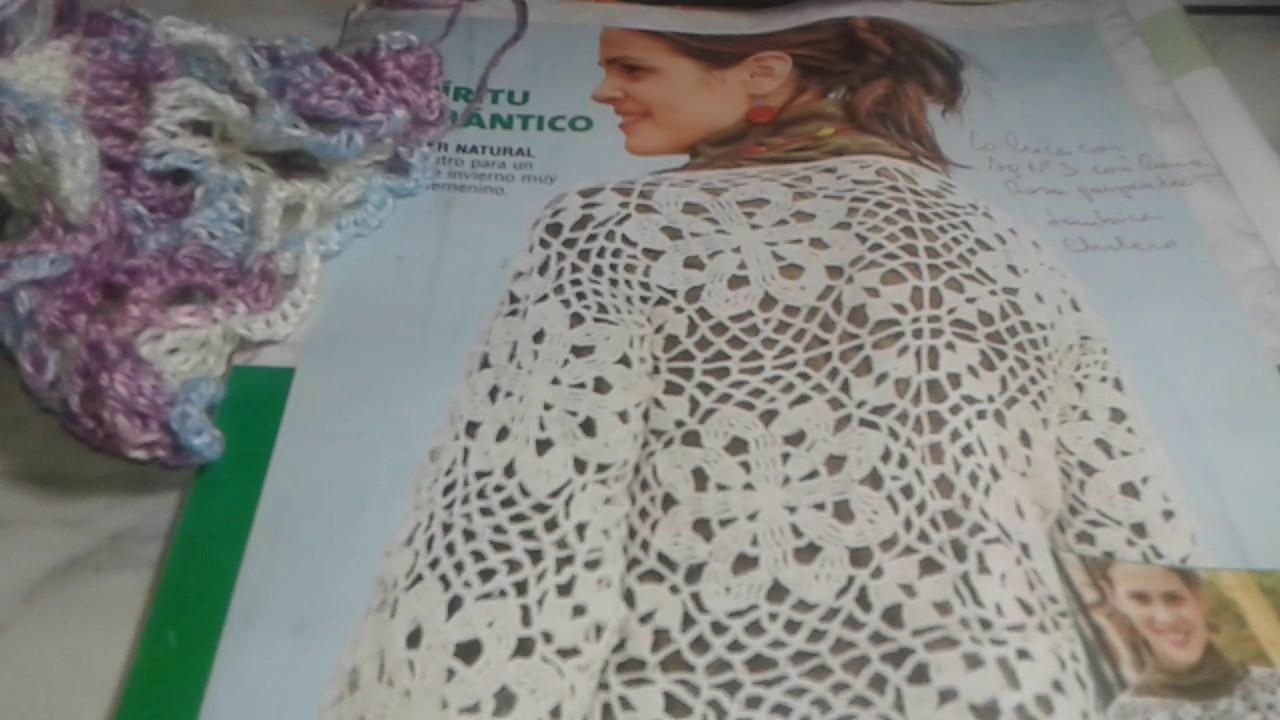Chaleco tejido a crochet hecho con cuadrado P.1