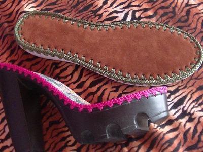 CLASE 4 UNION DE SUELA Y PLANTILLA ( Curso Básico de zapatos tejidos para Principiante)