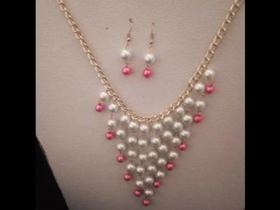 Collar de perlas y cadena cascada      vídeo # 1