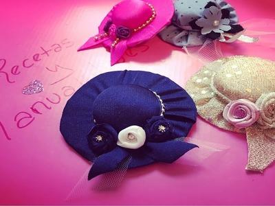 Como hacer mini sombreros para niñas ????????